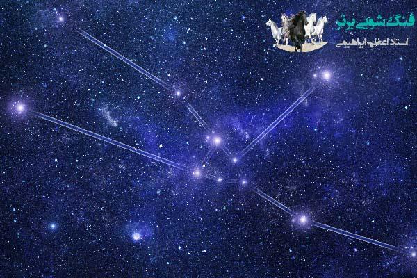 نمایی زیبا از صورت فلکی تارس در آسمان شب